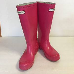 Hunters Pink Tall ainboot Size 5